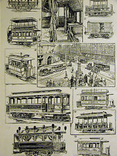 Meeker - History of Street Car Pittsburg Traction TALCA Agentina 1891Art Matted