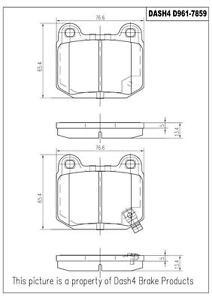Rear Ceramic Brake Pads CD961 Dash 4 Brake