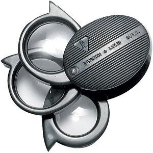 Bausch & Lomb Folding Pocket Magnifier, 5x, 7x, 9x, 20x Loupe, Jewelers, Maps