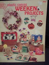 WEEKEND PROJECTS  plastic canvas  PATTERN BOOK  1986 Americcan School  (#276)