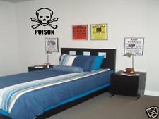 SKULL Poison Pirate Boys Kids Bedroom VInyl Wall Art