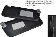 GREY STITCHING FITS PEUGEOT 306 93-02 2X SUN VISORS LEATHER COVERS ONLY