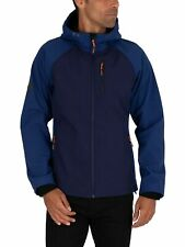 Superdry Men's Hooded Softshell Jacket, Blue