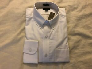 J.Crew Ludlow American Pima Cotton Oxford Dress Shirt, Small Eq., White, NWT!