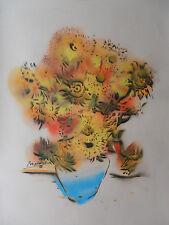 "Mark Hammond British Original large signé Stencil ""VAN GOGH Tournesols'S 2014"