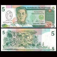 Philippines 5 Pesos Banknote, 1987, P-176, UNC, Asia Paper Money