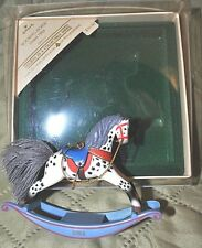 Hallmark Christmas Ornament Rocking Horse #4, dated 1984 NM+ w/ box