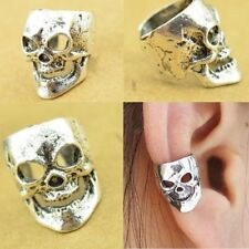 Men Women Skull Cuff Fashion Gothic Punk Silver Unisex Wrap Ear Clip Jewelry
