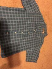 Patagonia Plaid Flannel Button Down Women's Sz M Cotton Shirt Teal Vintage