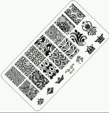 1 pc NEW Fashion Image Nail Art Stamping Plates Manicure Steel Templates Stencil