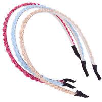 Women Handmade Headband Flower Crystal Beads Hairband Hair Band Head Piece