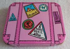 World Traveler Suitcase Candy Tin Box