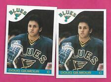2 X 1985-86 TOPPS # 76 BLUES DOUG GILMOUR  2ND YEAR NRMT-MT CARD (INV# C7278)
