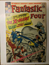 Fantastic Four #28/Silver Age Marvel Comic Book/Early X-Men Crossover/VG+