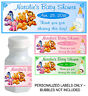 30 WINNIE THE POOH BABY SHOWER FAVORS BUBBLE LABELS
