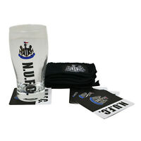 Official Football Club Newcastle Pint Glass Bar Set Great For A Fathers Day Gift