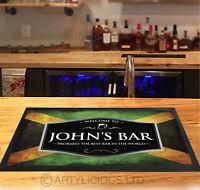 Personalised Jamaican Flag Red & Silver beer label Beer label Bar runner