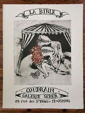 Brigitte Coudrain Affiche Lithographie Exposition Imprimerie Arte Paris 1959