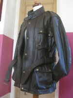 RRP£207 Mens Bikers Gear Brown Classic Leather Cowhide Motorcycle Jacket coat
