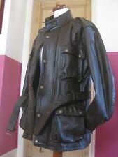 RRP£207 Mens Bikers Gear Brown Classic Leather Cowhide Motorcycle Jacket coat