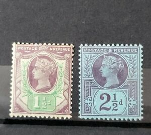 GB QUEEN VICTORIA 2X JUBILEE ISSUE STAMPS U/MINT