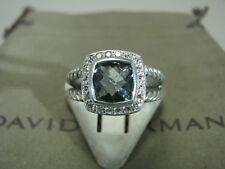 DAVID YURMAN AUTENTIC ALBION 7MM PRASIOLITE DIAMOND RING SIZE 7  D.Y. POUCH