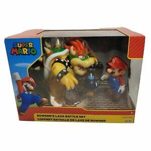 Nintendo Super Mario, Bowser's Lava Battle Set Characters Mario, Bowser, Bob-OMB