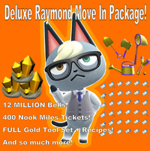 Raymond - Animal Crossing Villager - DELUXE Move In Package!