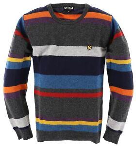 Lyle & Scott Herren Pullover Strick Gr.XL 100% Lamm Wolle im Casual-Stil 117520
