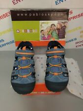 Pablosky Blue Childrens Sandals PU Denim Blue EU38 UK5 NEW Box Poor 943520