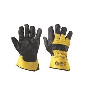 Neu Keep Safe Superior Ausleger Handschuhe Schwarz/Gelb Groß