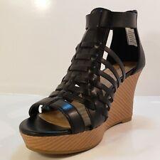 American Eagle Womens Gladatior  wedge Dress Shoes Black Size 7