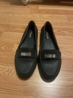 Coach Womens Marley Driver Loafers Size 8.5 Black Shoes Pre-owned