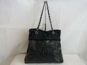 Auth XG07 CHANEL chain shoulder bag junk Coco mark Silver hardware from Japan