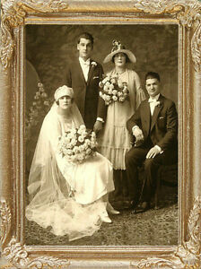 VICTORIAN WEDDING PHOTO Dollhouse Picture Art - MADE IN USA. RAPID DELIVERY