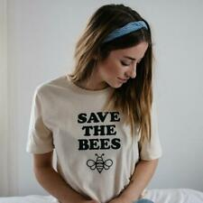 SAVE THE BEES T-shirt Save The Environment Tee Only One Earth Tops Unisex Shirt