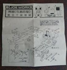 Joe Works Evergreen Series Brass Kit Model Locomotive Unassembled