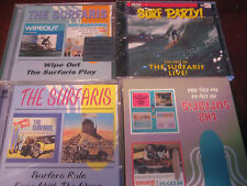 Surf Party: SURFARIS STUDIO & Live! Rare Sealed 4 CD'S WIPEOUT SURFER'S RULE SET