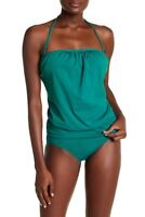 Tommy Bahama Pearl Solid Bandini Top ONLY TSW31012T Tidal Teal S Small