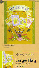 IMPRESSIONS Garden Flag SEED PACKETS Garden Tools 28 x 40 NEW!!!
