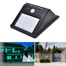 20 LED Solar Powered Sensor Light Outdoor Garden Security Wall Light Lamp JR