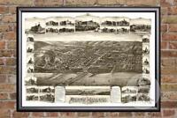 Vintage Atlantic Highlands, NJ Map 1894 - Historic New Jersey Art Old Industrial