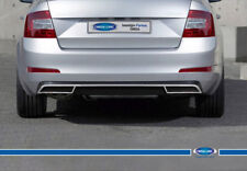 FIT FOR SKODA OCTAVIA III A7 Chrome Rear Diffuser 3 Pcs. S.Steel 2013 > UP