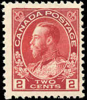 Mint NH Canada F+ Scott #106 2c 1917-1922  KGV Admiral Stamp