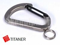 TITANER Titanium Carabiner Snap Hook Keyring Keychain Keyholder TC4 Ti L