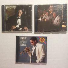 Lot of 3 Wynton Marsalis CDs Music Trumpet Standard Time Vol 1 3 Portrait