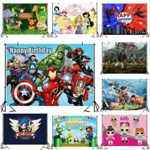 Happy Birthday Party Photo Background Home  Studio Photography Screen Backdrop