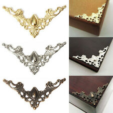 Hk- Ft- 24 Pcs Jewelry Iron Case Scrapbook Box Desk Corner Decor Guard Crafts Sa