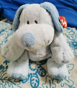 Ty Baby Whyffer Plush Lovey Dog Blue lovey Nicotoy chien peluche toy jouet