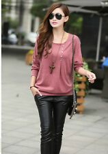 Pink Pullover Batwing Sleeve Women Top